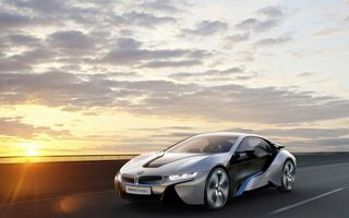 Бесплатные фото bmw i8,concept,купе,серебро,черные,полосы,дорога
