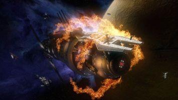 Фото бесплатно галактика, корабль, космический, крушение, взрыв, космос
