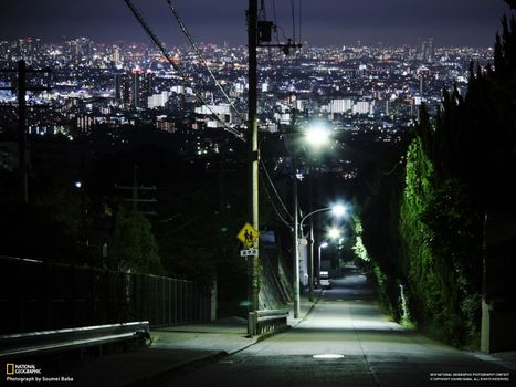 Фото бесплатно спуск, дорога, город