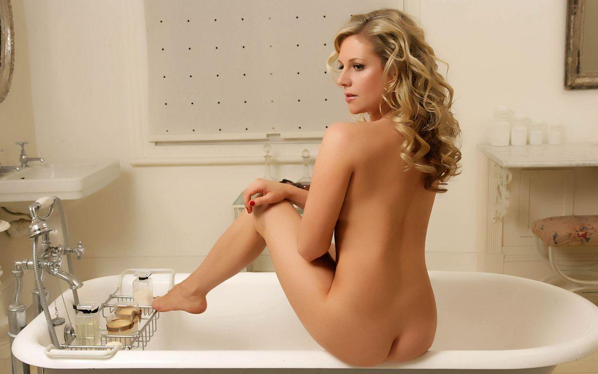 Фото бесплатно блондинка, обнаженная, волосы - на рабочий стол