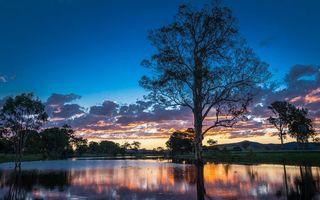 Бесплатные фото деревья,река,вода,отражение,небо,облака,природа