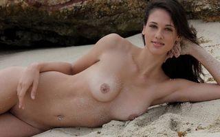 Фото бесплатно девушка, голая, пляж