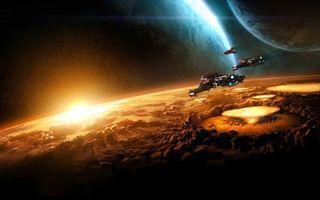 Фото бесплатно фантастика, космос, планеты