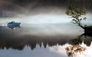 Фото бесплатно озеро, туман, отражение