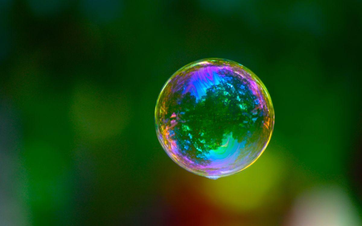 Фото бесплатно пузырь, мыльный, шар, зеркало, отражение, радуга, окрас, природа, разное, разное