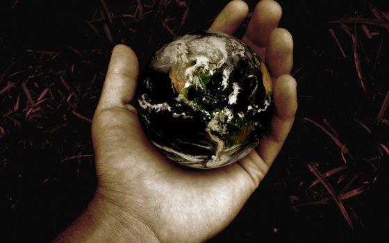 Фото бесплатно рука, планета, земля