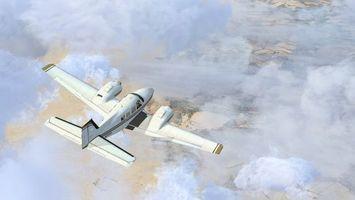 Бесплатные фото самолет,летит,полет,небо,облака,высота,скорость