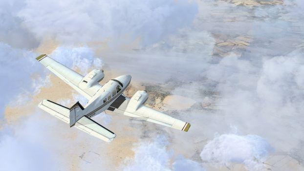 Фото бесплатно самолет, летит, полет