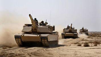 Фото бесплатно песок, солдаты, танки