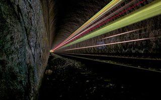 Бесплатные фото туннель,свет,огни,полосы,выдержка,скала,проход