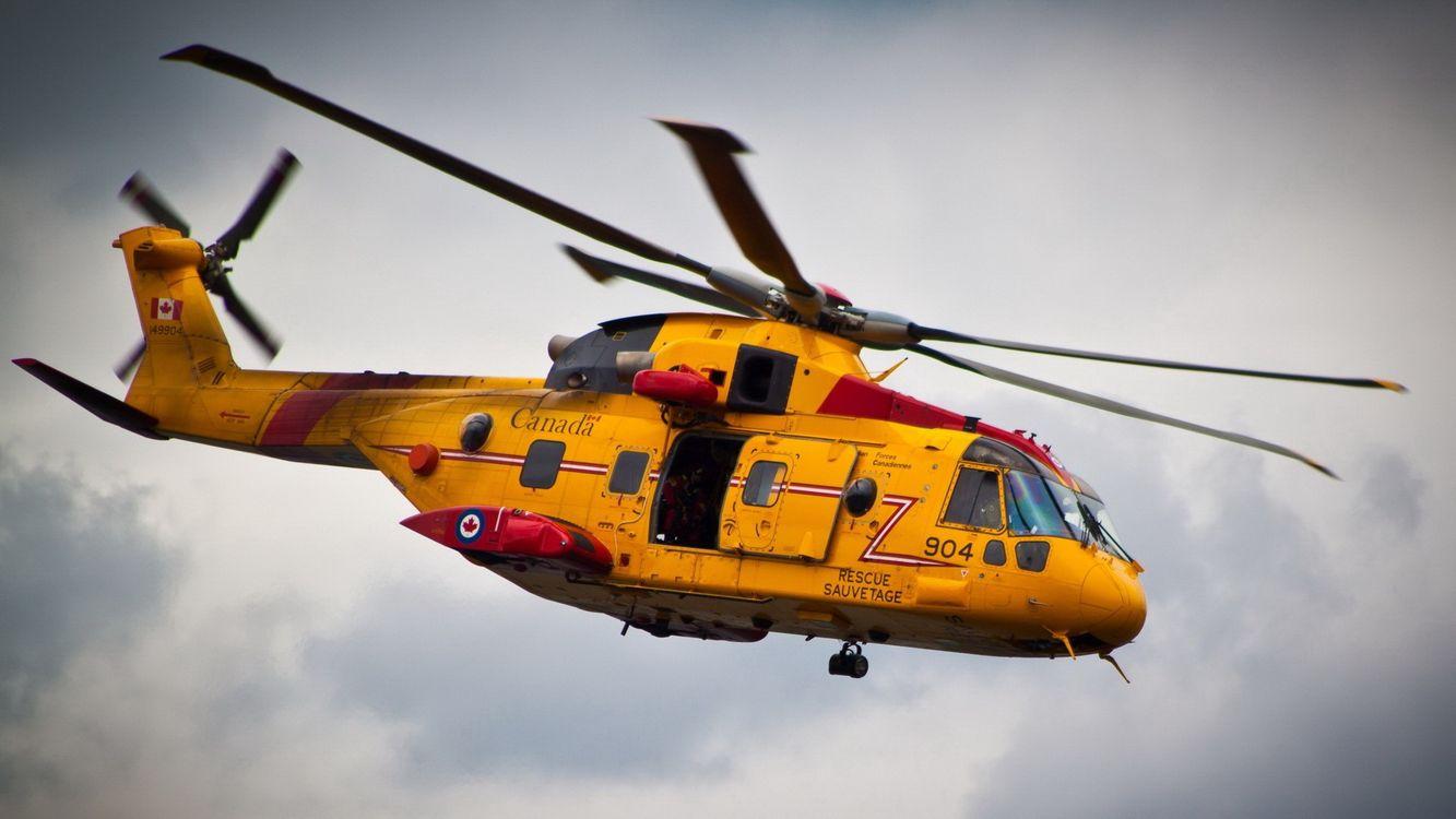 Фото бесплатно вертолет, желтый, лопасти - на рабочий стол
