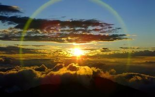 Photo free sunset, sun, view