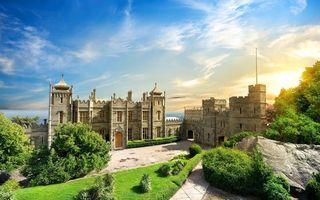Фото бесплатно замок, забор, море