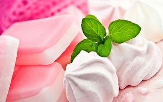 Бесплатные фото зефир,мята,сладости,сахар,десерт,еда
