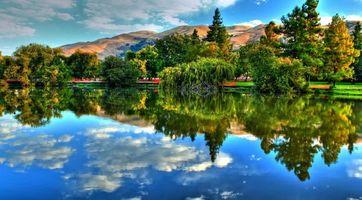 Фото бесплатно озеро, гора, холм