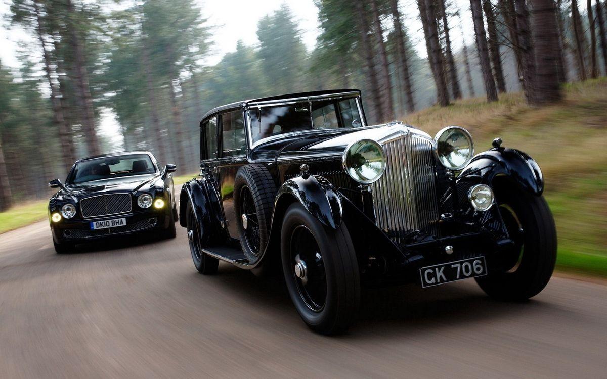 Фото бесплатно бентли, модели, классика, современая, дорога, скорость, машины