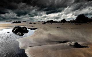 Бесплатные фото берег,тучи,море,вода,волны,камни,песок