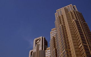 Фото бесплатно дома, высотки, окна, стекло, крыша, этажи, город