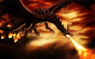 Фото бесплатно крылья, огонь, рендеринг