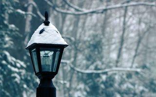 Фото бесплатно фонарь, улица, снег