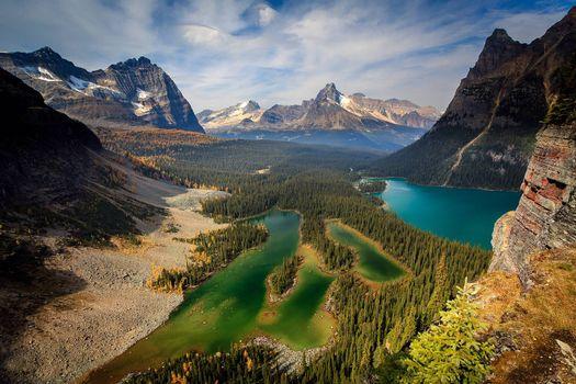 Фото бесплатно горы, скалы, озёра