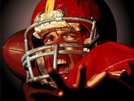 Бесплатные фото игрок,спортсмен,форма,шлем,регби,мяч,одежка
