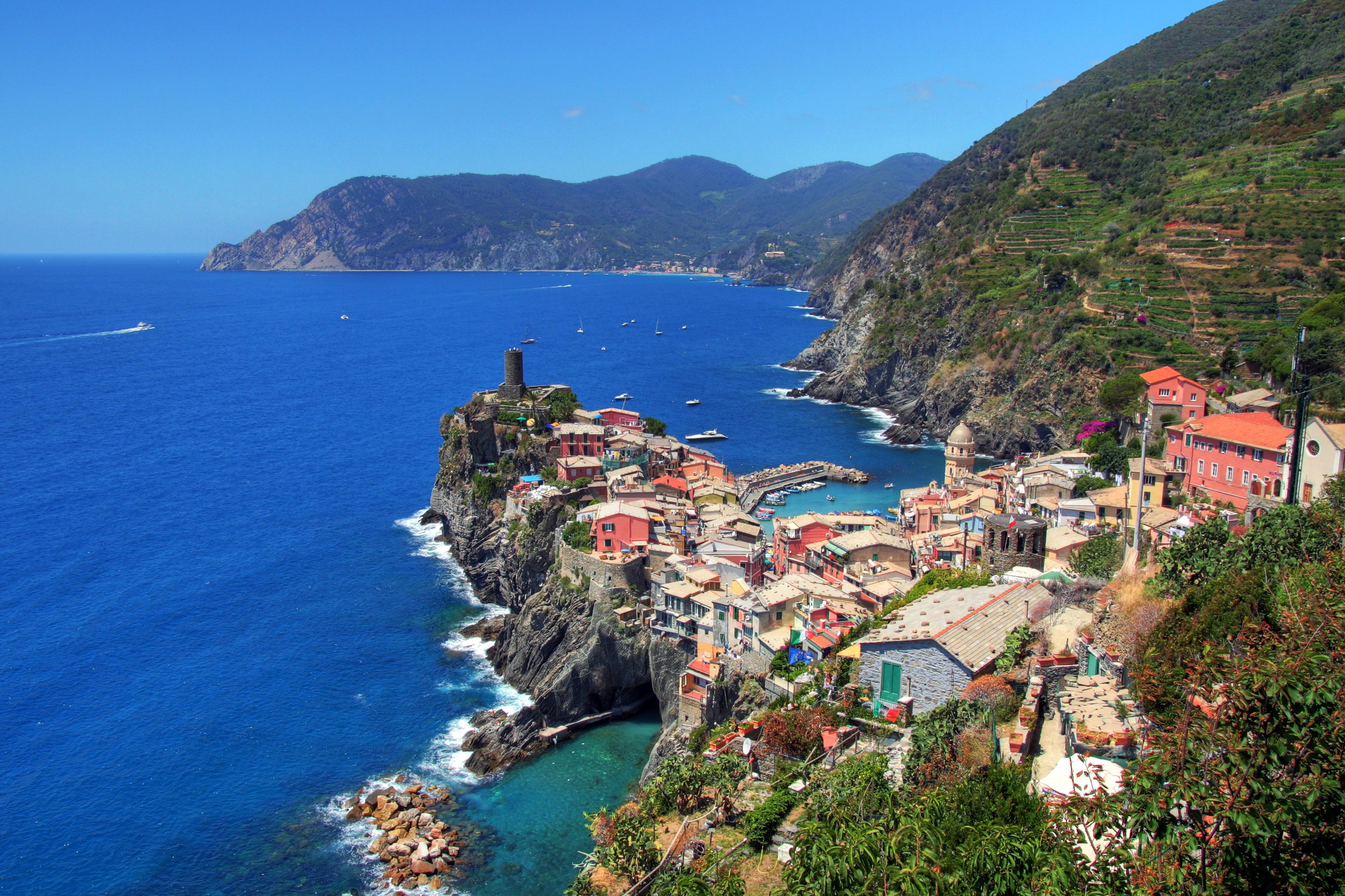 обои италия, море, горы, скалы картинки фото