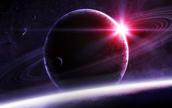 Бесплатные фото космос,планеты,кольца,поверхность,солнце,звезды,метеориты,комета,фантастика