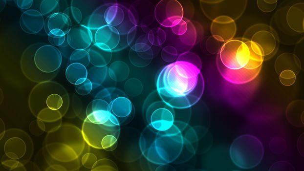 Заставки круги, радуга, гамма