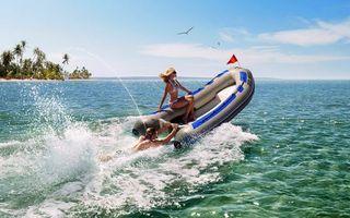 Фото бесплатно море, лодка, пляж