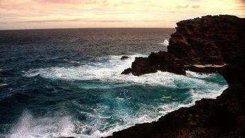 Заставки прибой, природа, скалы