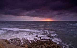 Бесплатные фото море, океан, волны, пена, берег, камни, горизонт