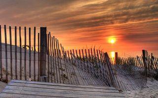 Фото бесплатно закат, океан, вода