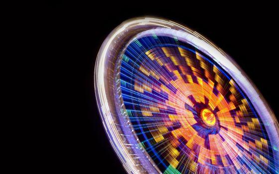 Photo free night, attraction, wheel