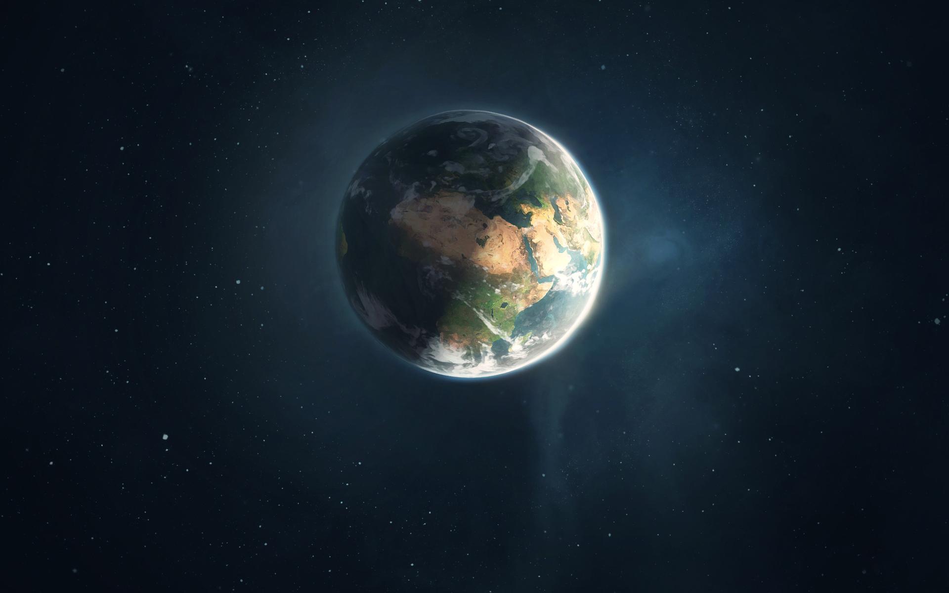 Обои новые, миры, планета, континенты