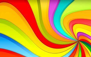 Заставки обои, радуга, разноцветные, линии, волны, цвета, яркие, красный, оранжевый, зеленый, синий, абстракции