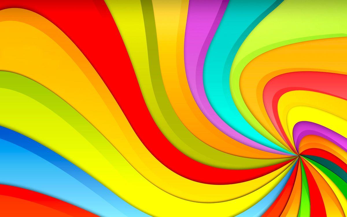 Фото бесплатно обои, радуга, разноцветные, линии, волны, цвета, яркие, красный, оранжевый, зеленый, синий, абстракции, настроения, разное, разное