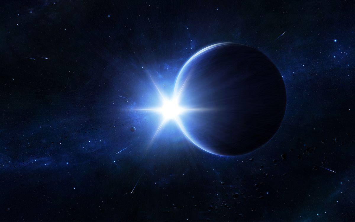 Обои планета, земля, звезды картинки на телефон