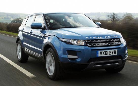 Фото бесплатно range rover, синий, скорость, машины