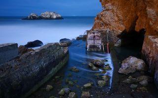 Заставки скалы, вода, море, океан, берег, набережная, камни
