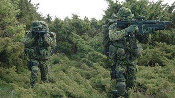 Фото бесплатно солдаты, форма, зеленая