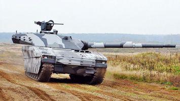 Фото бесплатно танк, серый, дуло