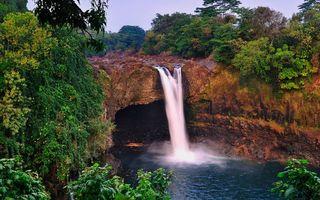 Фото бесплатно вода, река, озеро, водопад, скалы, горы, деревья, природа