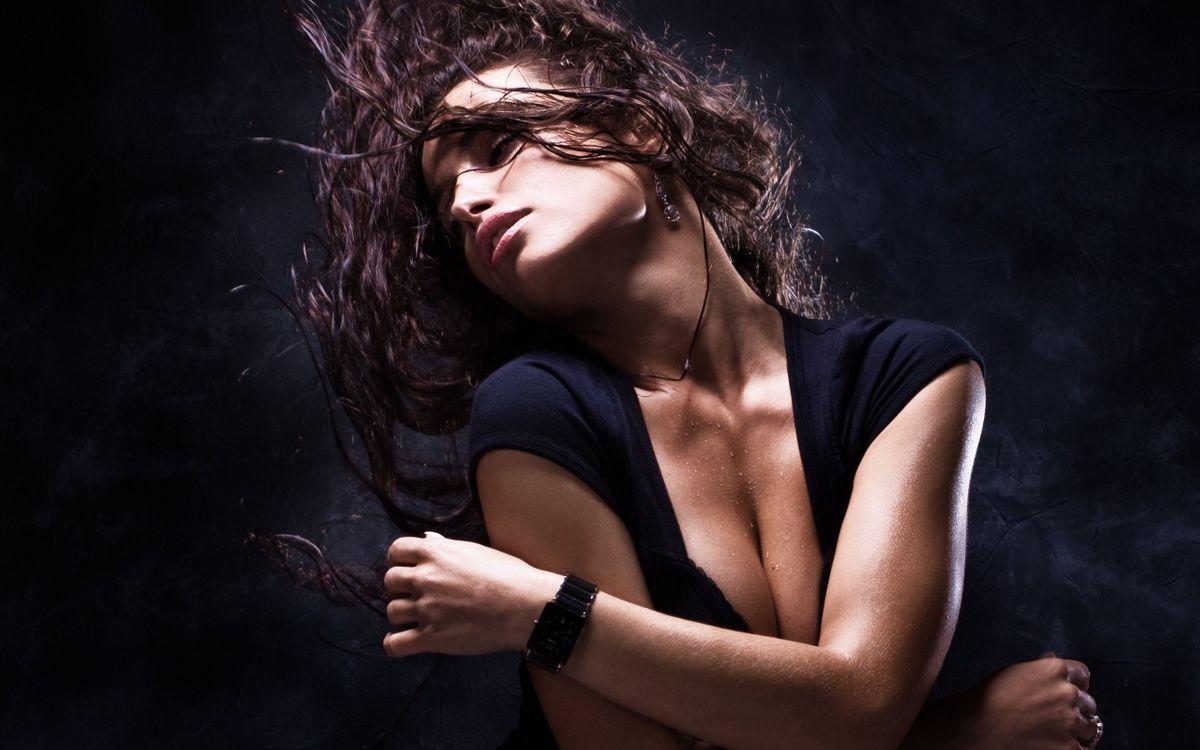 Фото бесплатно волосы, часы, рука - на рабочий стол