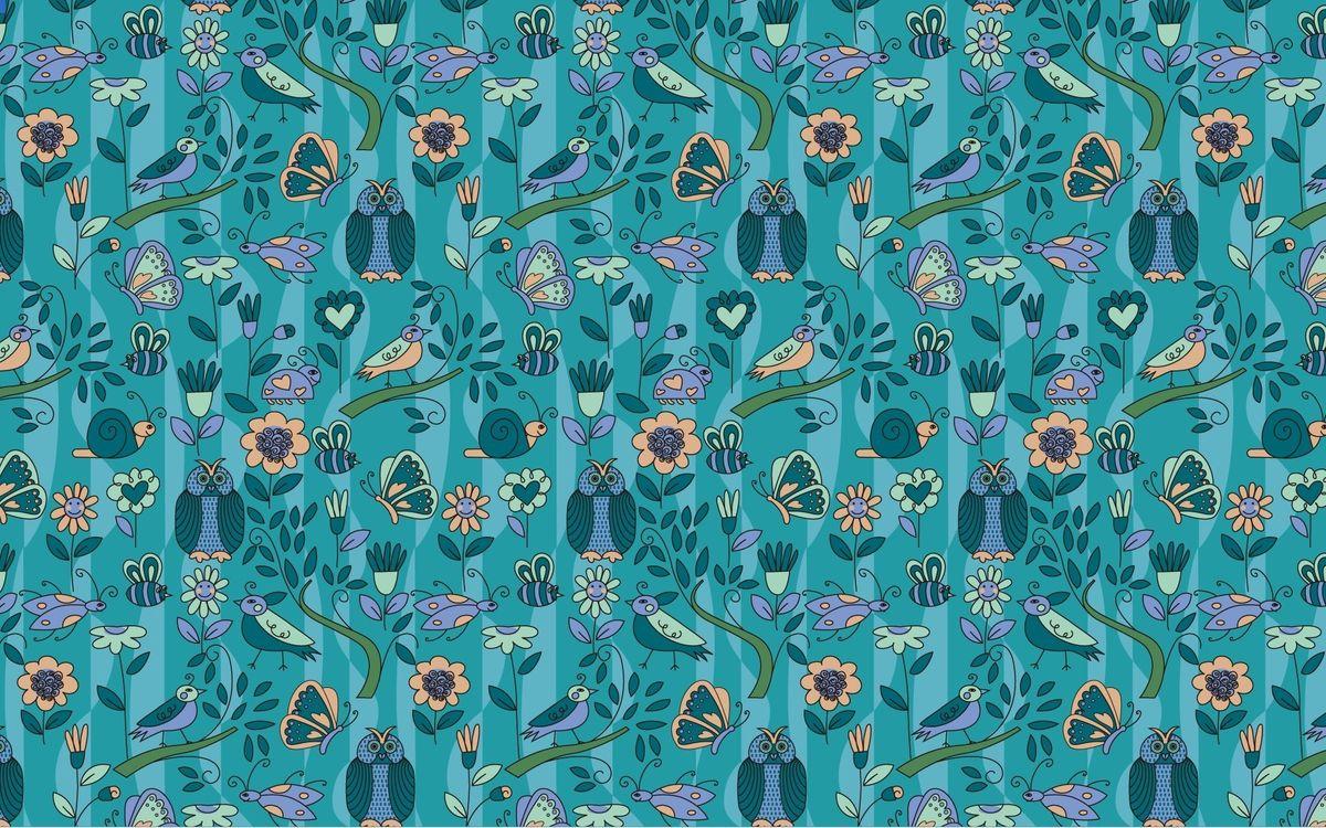 Фото бесплатно цвет, совы, текстура, фон, бабочки, птички, голубой, разное