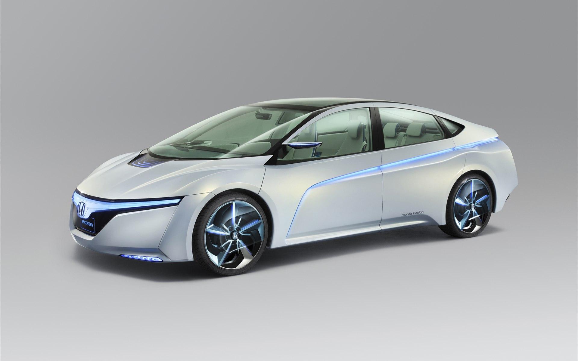 Screensaver Honda Ac X Concept Electric Car White Blue Stripes