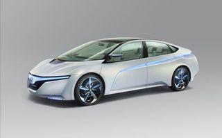 Заставки honda, ac-x, концепт, электромобиль, белый, синий, полоски, подсветка, неон, фон, колеса, решетка