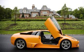 Бесплатные фото lamborghini, желтый, оранжевый, двери, кузов, колеса, дорога