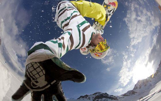 Фото бесплатно человек, спортсмен, сноуборд