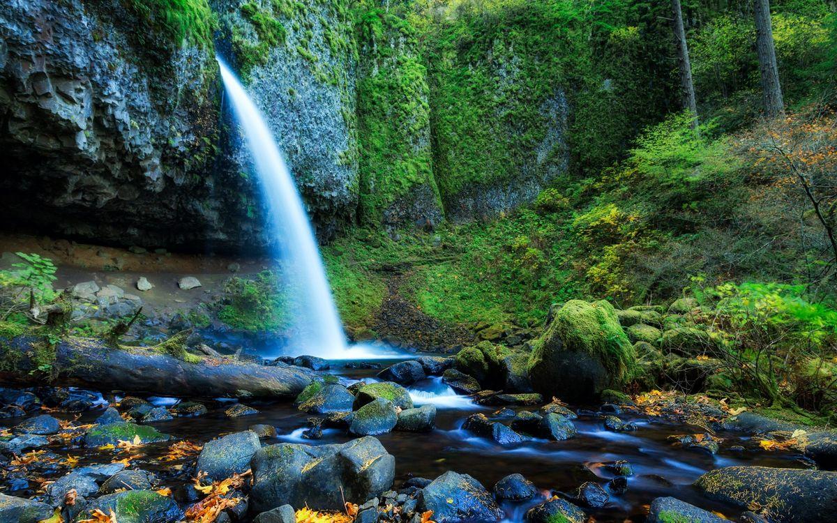Фото бесплатно гора, река, водопад, камни, мох, деревья, трава, природа, природа